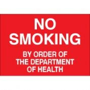 No Smoking safety sign - No Smoking By Order 010